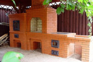 Барбекю - комплекс с мини-русской печью и казаном
